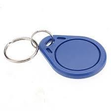 MIF-1K-FOB27-B - Porte-clés Mifare 1k NXP, bleu